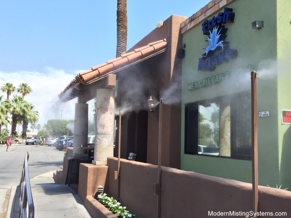 Even In California Drought Misters Vital To Restaurants