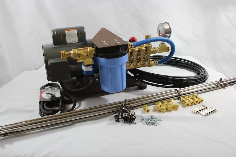 30 Foot SS Misting Kit, 20″ O.C., SILVER Series Pump