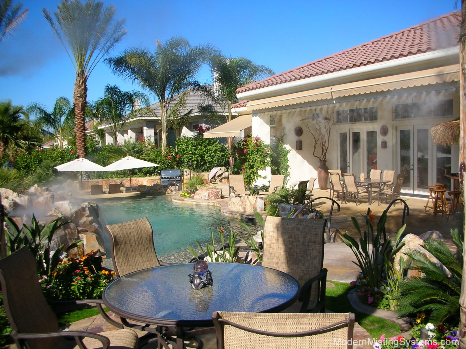 Outdoor Misting Systems - Outdoor Misting Systems Modern Misting Systems For Palm Springs